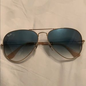 Ray Ban light blue gradient aviators